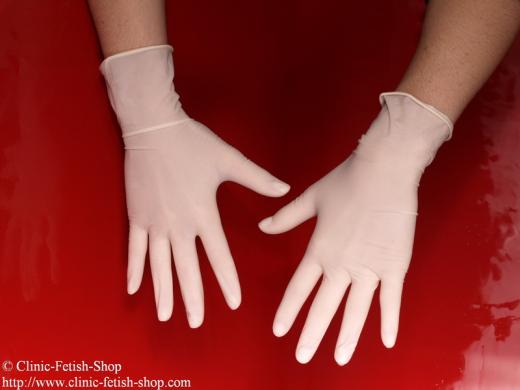 Examination glove latex powder free,