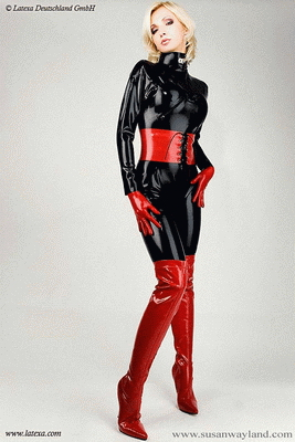 Ladies catsuit with zippers for breasts
