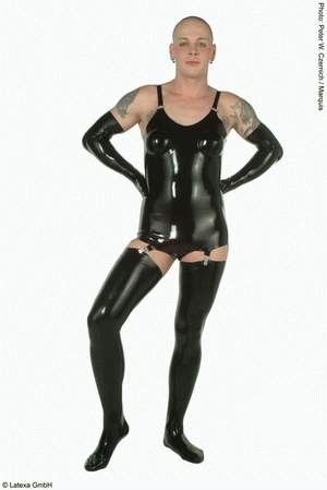 Corset with inflatable breasts