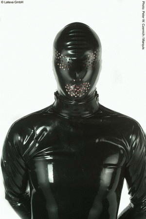 Mask with zipper and perf. holes for...