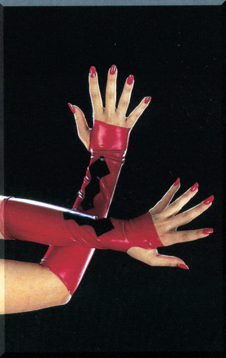 Gloves without fingers, with motiv