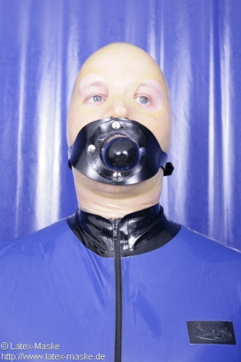 Dildo harness with solid gag option lockable
