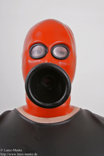 Mask with funell and ring gag