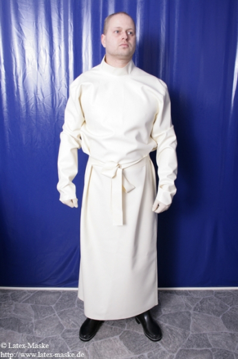 Doctors tunic with stand up collar and long sleeves