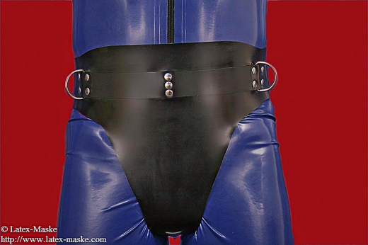 Coercive enema belt deluxe combination with belt option lockable