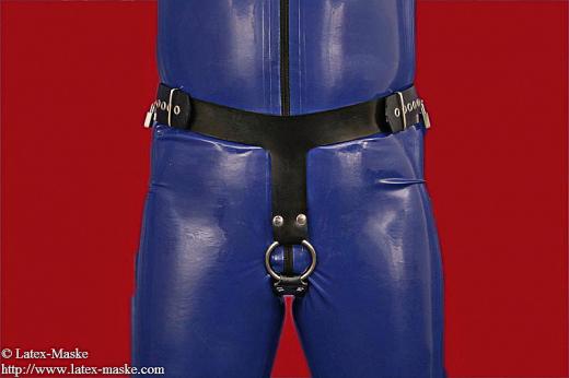 Coercive enema belt with cockring option lockable