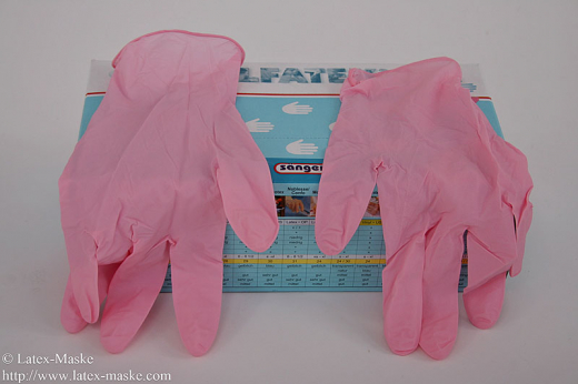 Latex gloves 100 pink
