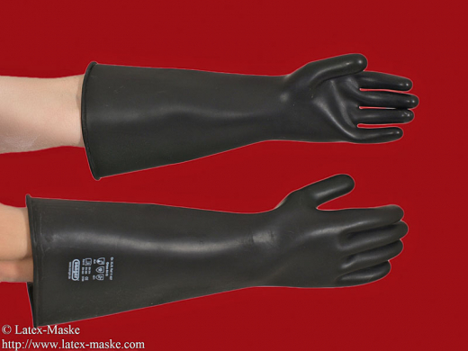 Thick gloves elbow long