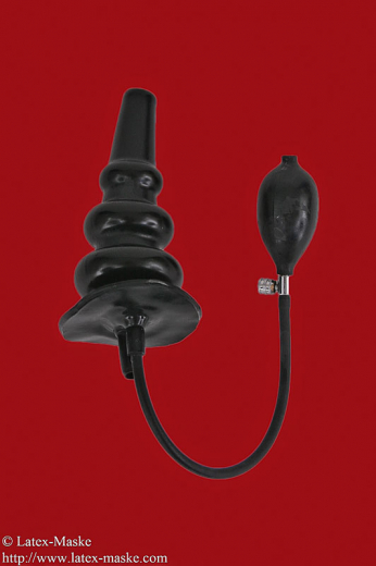 Inflatable enema plug big with ribs