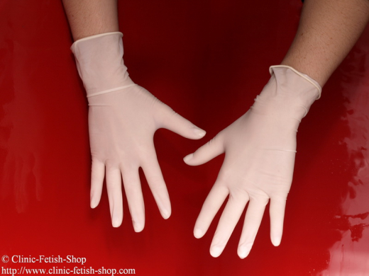 Examination glove latex powder free, sterile