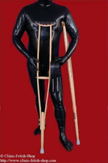 Wood crutches
