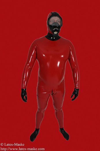 Catsuit with different gasmasks option gloves and socks