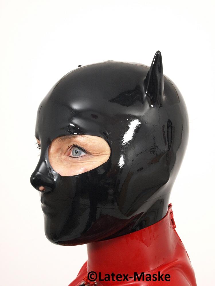 Cat Mask Full Mask Latex Maske