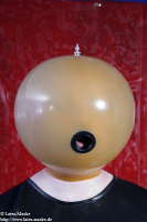 Inflatable Latex Mask with air Pump