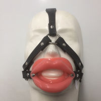 mouth lips trainer head harness  lockable