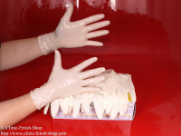 Examination glove, latex powder free, not sterile