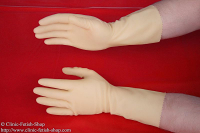 1 pair of latex gloves unfed yellow-transparent