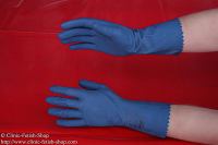 1 pair of latex gloves unfed blue