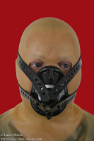 Anaesthetic mask with head harness